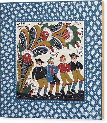 Dancing Men  Wood Print by Leif Sodergren