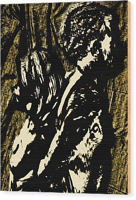 Dark Hearts Wood Print