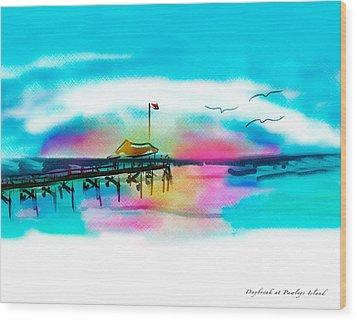 Wood Print featuring the digital art Daybreak At Pawleys Island by Frank Bright