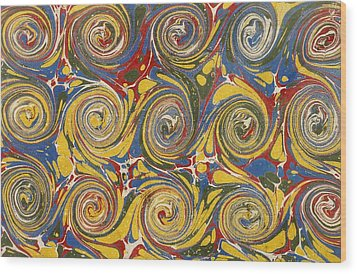 Decorative End Paper Wood Print by English School