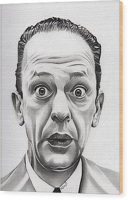 Deputy Barney Fife Wood Print by Fred Larucci