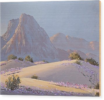 Wood Print featuring the painting Desert Prelude by Dan Redmon