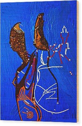 Dinka Embrace - South Sudan Wood Print by Gloria Ssali