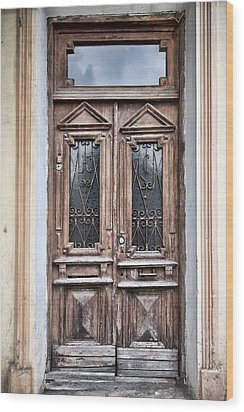 Door Wood Print by Gouzel -