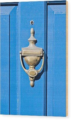 Door Knocker Wood Print by Tom Gowanlock