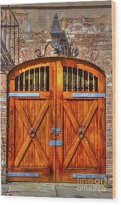 Doors Of Charleston Wood Print