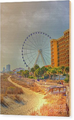Downtown Myrtle Beach Wood Print