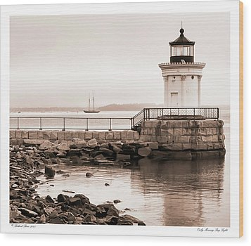 Wood Print featuring the photograph Early Morning Bug Light by Richard Bean