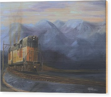 East Of The Belt Range Wood Print by Christopher Jenkins