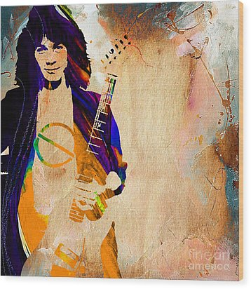 Eddie Van Halen Collection Wood Print
