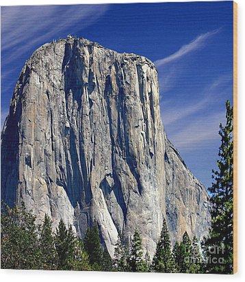 El Capitan Yosemite National Park Wood Print by Bob and Nadine Johnston