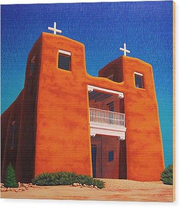 El Corazon Sagrado Wood Print