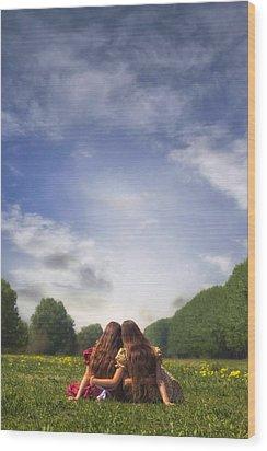 Embrace Wood Print by Joana Kruse