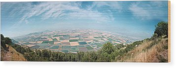 Emek Yizrael Panorama Wood Print by Meir Ezrachi