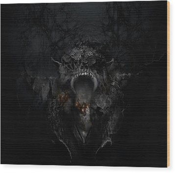 Empire Of Ashes Wood Print by David Fox