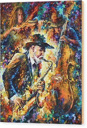 Endless Tune Wood Print by Leonid Afremov