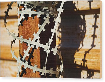 Enhanced Level Of Safety And Security 1 Wood Print by Mark Weaver