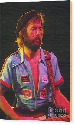 Eric Clapton Wood Print by Marc Bittan