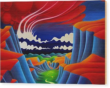 Wood Print featuring the painting Escalante by Richard Dennis