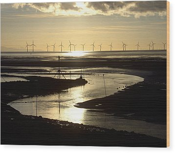 Evening Low Tide  Wood Print