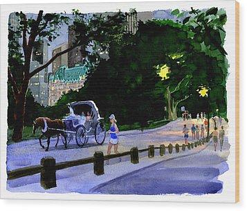 Evening Run Wood Print