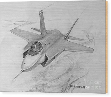 F-35 Joint Strike Fighter Wood Print