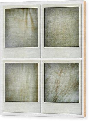 Fabrics Wood Print by Les Cunliffe