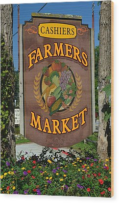 Farmers Market Wood Print by Frozen in Time Fine Art Photography