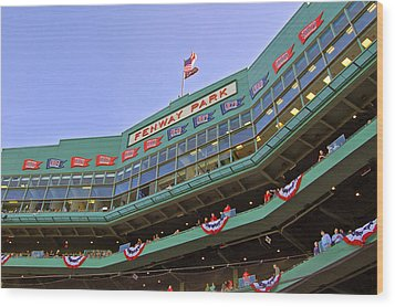 Fenway's 100th Wood Print by Joann Vitali