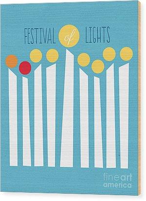 Festival Of Lights Wood Print by Linda Woods
