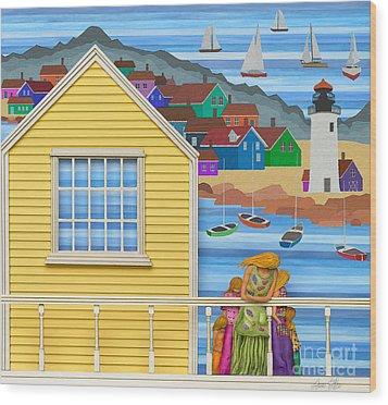 Finally Home Wood Print by Anne Klar