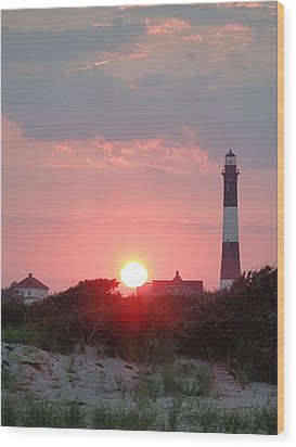 Fire Island Sunset Wood Print