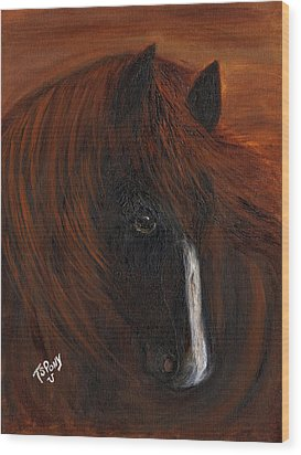 Wood Print featuring the painting Firestorm by Barbie Batson
