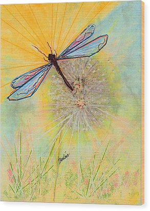 Flight Wood Print by Desline Vitto