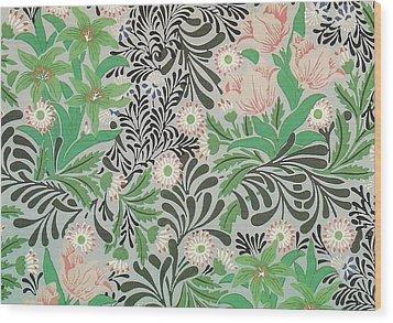 Floral Design Wood Print by William Morris