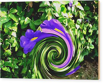 Flower Abstract Study-2 Wood Print by Anand Swaroop Manchiraju