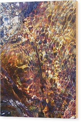 Flowing  Wood Print by Agnieszka Ledwon