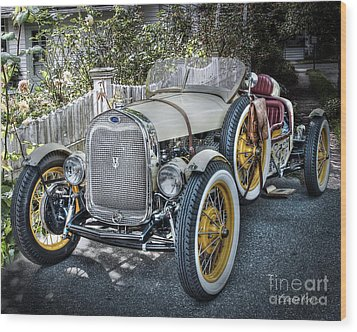 Ford Roadster Wood Print by Louise Reeves