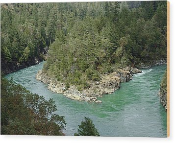 Forks Of The Smith River Wood Print