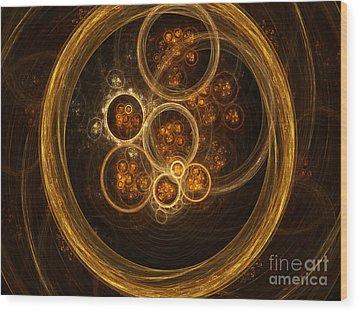 Fractal Flames Wood Print by Scott Camazine