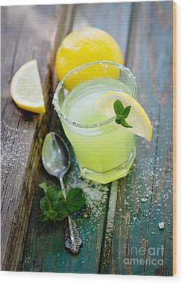Fresh Lemonade Wood Print by Mythja  Photography