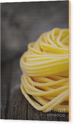 Fresh Pasta Wood Print by Mythja  Photography