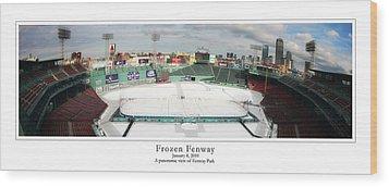 Frozen Fenway Wood Print by Kristopher Ventresco