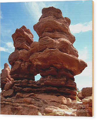 Garden Of The Gods Wood Print by Claudette Bujold-Poirier