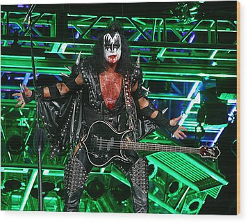 Wood Print featuring the photograph Gene Simmons - Kiss by Don Olea