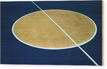 Geometry On The Basketball Court Wood Print by Gary Slawsky