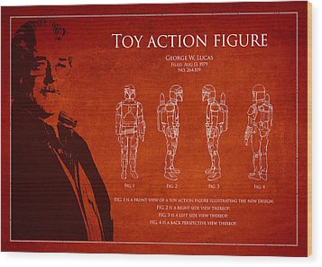 George Lucas Patent 1979 Wood Print by Aged Pixel