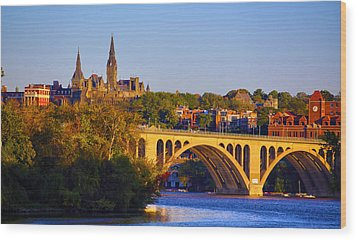 Georgetown Wood Print by Mitch Cat