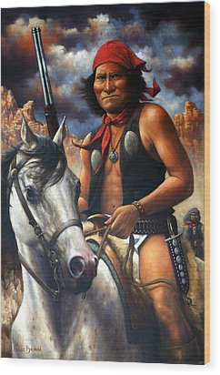 Wood Print featuring the painting Geronimo by Harvie Brown