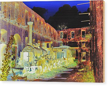 Ghost Train Wood Print by Chuck Staley
